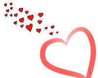 Amor sobre Imagem de Stock Royalty Free