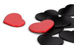 Amor sobre blanco Imagen de archivo