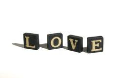 Amor soletrado Imagem de Stock