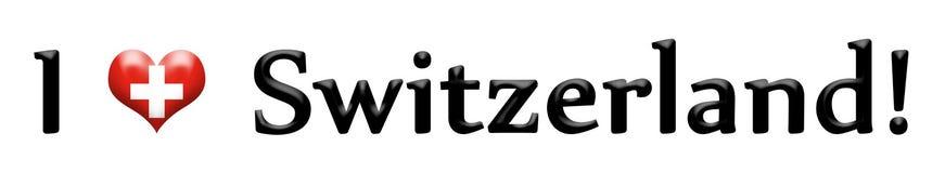 Amor Suiza del encabezamiento I aislada en blanco ilustración del vector