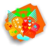Amor surpreendente da borboleta Fotografia de Stock Royalty Free