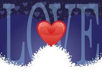 Amor - tarjeta del corazón Fotos de archivo libres de regalías