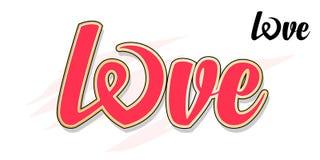 Amor Texto caligráfico Imagem de Stock Royalty Free