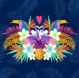 Amor tropical vívido ilustração do vetor