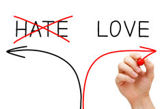 Amor u odio Foto de archivo libre de regalías