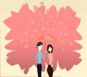 Amor Umblella Ilustración del Vector
