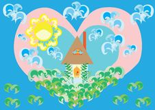 Amor a un hogar nativo Stock de ilustración