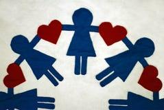Amor uno otro Imágenes de archivo libres de regalías
