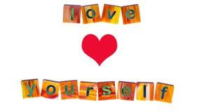 Amor usted mismo Fotos de archivo