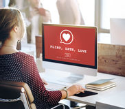 Amor Valentine Romance Heart Passion Concept da data da namoradeira Foto de Stock