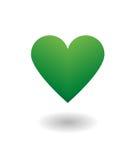 Amor verde del corazón imagenes de archivo