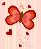 Amor vermelho da borboleta Imagem de Stock Royalty Free
