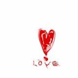 Amor vermelho do coração ilustração do vetor