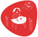 Amor virtual Imagen de archivo