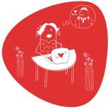 Amor virtual Imagem de Stock