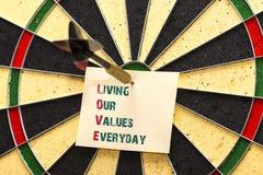 AMOR - Viviendo nuestros valores diarios Fotografía de archivo libre de regalías