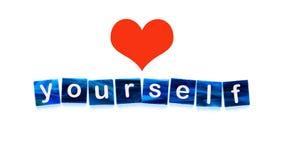 Amor você mesmo imagem de stock