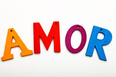 Amor word Stock Photo