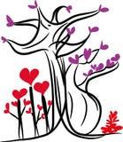 Amor y árbol del amor Fotografía de archivo