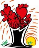 Amor y árbol del amor Fotos de archivo libres de regalías