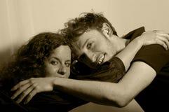 Amor y abrazo Imagen de archivo