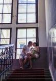 Amor y afecto entre un par Fotos de archivo