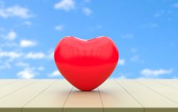 Amor y amante del corazón para la representación de la tarjeta del día de San Valentín 3D stock de ilustración