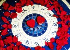 Amor y astrología Imágenes de archivo libres de regalías