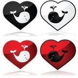 Amor y ballenas ilustración del vector