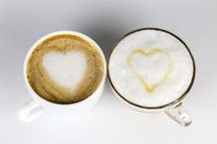 Amor y café fotografía de archivo