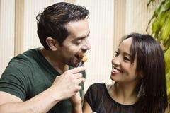 Amor y comida Fotos de archivo libres de regalías