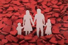 Amor y concep feliz de la familia Foto de archivo libre de regalías