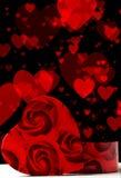 Amor y concepto de la tarjeta del día de San Valentín Foto de archivo