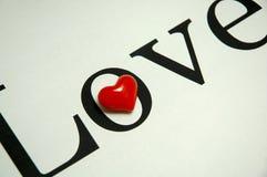 Amor y corazón Fotografía de archivo