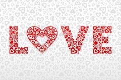 Amor y corazón Fotos de archivo libres de regalías