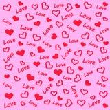 Amor y corazón en fondo rosado libre illustration