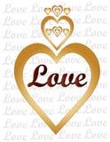 Amor y corazones Fotos de archivo