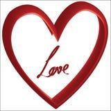 Amor y corazones - día del ` s de la tarjeta del día de San Valentín - ejemplo - vector Imágenes de archivo libres de regalías