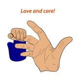 Amor y cuidado libre illustration