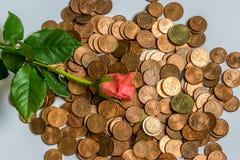 Amor y dinero Fotografía de archivo libre de regalías