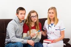 Amor y embarazo adolescentes Imagen de archivo