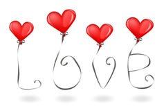 Amor y globos Foto de archivo libre de regalías