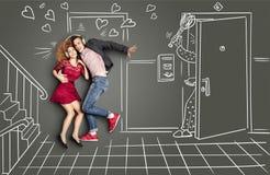 Amor y golpe Fotografía de archivo libre de regalías