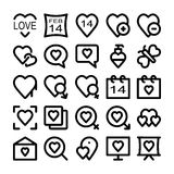 Amor y iconos coloreados romance 4 del vector Fotografía de archivo