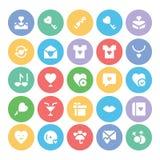 Amor y iconos coloreados romance 8 del vector Fotos de archivo libres de regalías