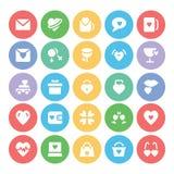 Amor y iconos coloreados romance 7 del vector Fotografía de archivo libre de regalías