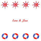 Amor y mar 2 ilustración del vector