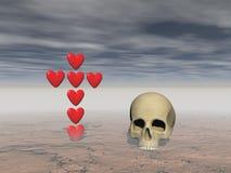 Amor y muerte - representación 3d Imagen de archivo libre de regalías