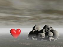 Amor y muerte - representación 3d Fotografía de archivo