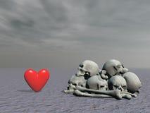 Amor y muerte - representación 3d Foto de archivo